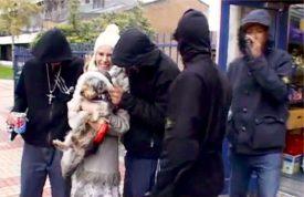 Sadie Kaye and Asbo, Hug a Hoodie (Sky News)